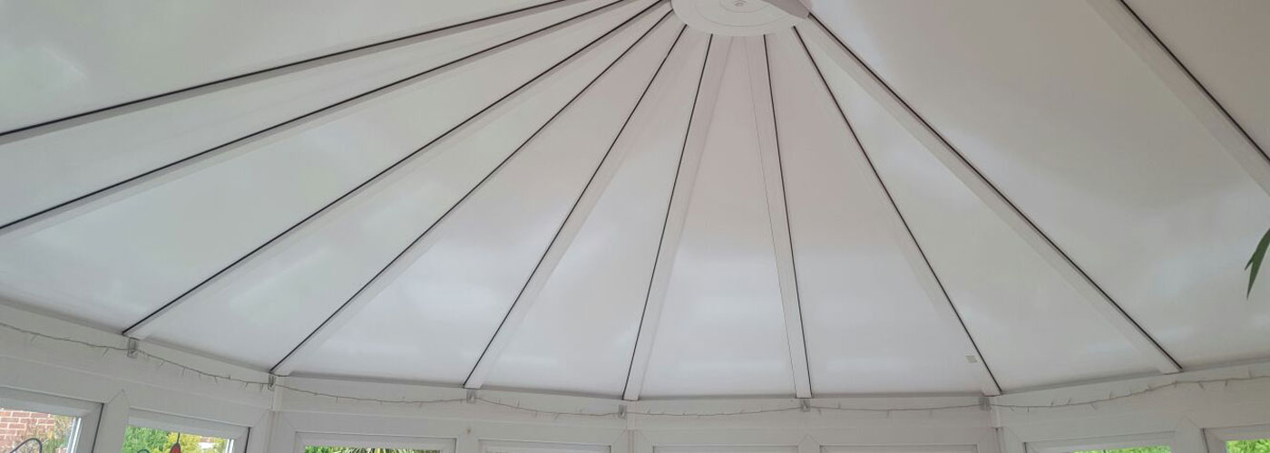 Insulated conservatory roof panel installation 3