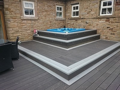 Composite wood decking025