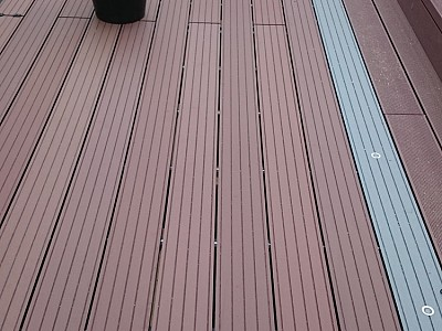 Composite wood decking089