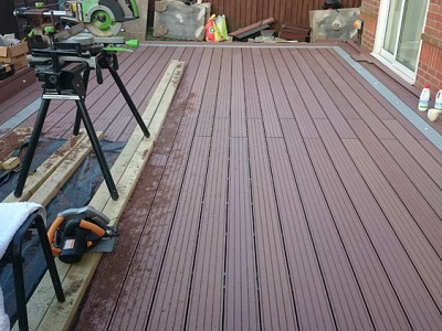 Composite wood decking092