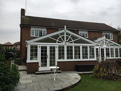 Gable end conservatory roof christchurch 1