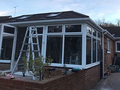 Replacement double hipped conservatory roof ferndown 2